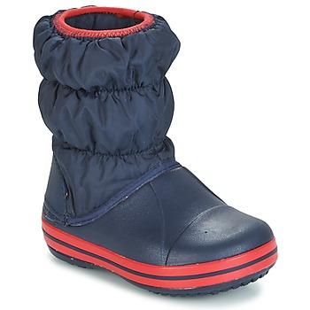 Chaussures Enfant Bottes de pluie Crocs WINTER PUFF BOOT KIDS Marine