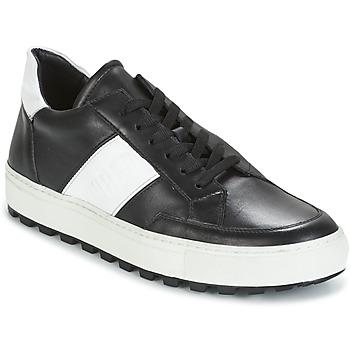 Chaussures Homme Baskets basses Bikkembergs TRACK-ER 966 LEATHER Noir / Blanc
