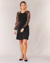 Vêtements Femme Robes courtes MICHAEL Michael Kors LACE SLV FIT FLR DRS Noir