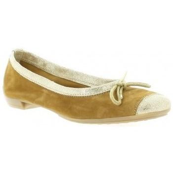 Chaussures Femme Ballerines / babies So Send Ballerines cuir velours Camel