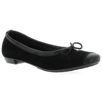 Chaussures Femme Ballerines / babies So Send Ballerines cuir velours Noir