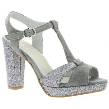 Chaussures Femme Sandales et Nu-pieds Reqins Escarpins cuir velours Gris