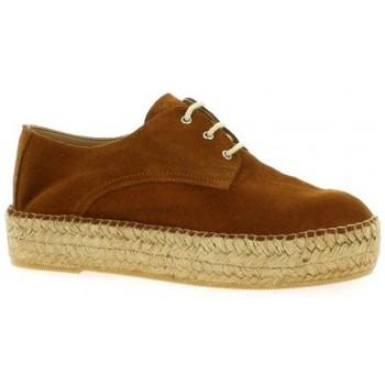 Chaussures Femme Espadrilles Pao Espadrille cuir velours Cognac