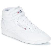 Chaussures Femme Baskets montantes Reebok Classic FREESTYLE HI Blanc / Argent