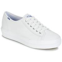 Chaussures Femme Baskets basses Keds TRIPLE KICK CORE LEATHER Blanc