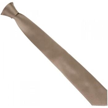 Vêtements Homme Cravates et accessoires Andrew Mac Allister cravate en soie classic marron Marron