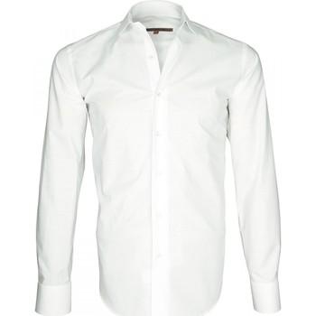 Vêtements Homme Chemises manches longues Andrew Mac Allister chemise tissu armure seven blanc Blanc