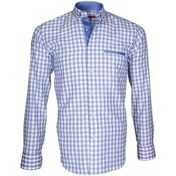 Vêtements Homme Chemises manches longues Andrew Mac Allister chemise bucheron lumberjack bleu Bleu