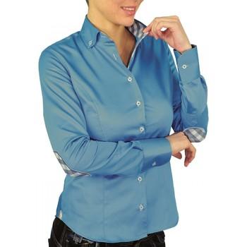 Vêtements Femme Chemises / Chemisiers Andrew Mac Allister chemise a coudiere brittany bleu Bleu