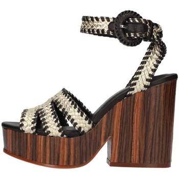 Chaussures Femme Sandales et Nu-pieds The Seller S5413 Sandale Femme Platine / Noir Platine / Noir