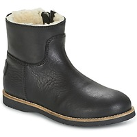Chaussures Fille Boots Shabbies LOW STITCHDOWN LINED Noir