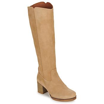 Chaussures Femme Bottes ville Casual Attitude HAPI Beige