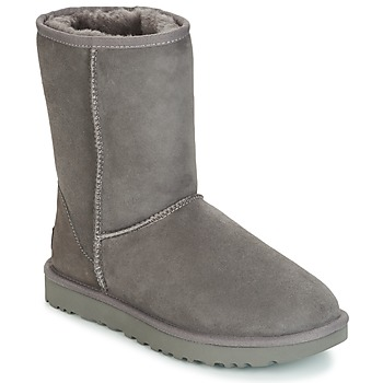 Chaussures Femme Boots UGG CLASSIC SHORT II Gris