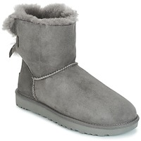 Chaussures Femme Boots UGG MINI BAILEY BOW II Gris