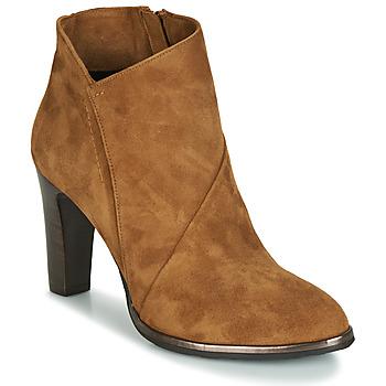 Chaussures Femme Bottines Myma PELOUR Cognac