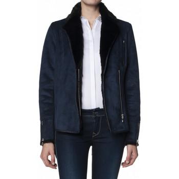 Vêtements Femme Blousons Salsa Blouson Simili Daim Andorra Bleu Noir