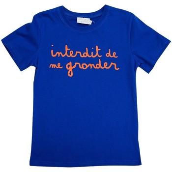 Vêtements Garçon T-shirts manches courtes Interdit De Me Gronder L'interdit Orange