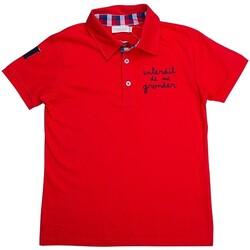 Vêtements Garçon Polos manches courtes Interdit De Me Gronder Allure Rouge