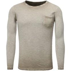 Vêtements Homme T-shirts manches longues Carisma T shirt manche longue mode T-shirt 3174 beige Beige