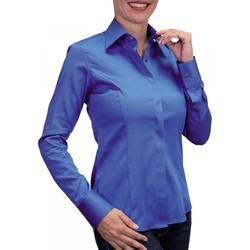 Vêtements Femme Chemises manches longues Andrew Mac Allister chemise mousquetaire new styl bleu Bleu