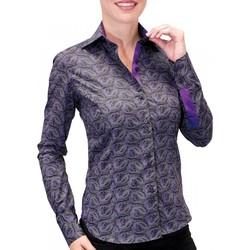 Vêtements Femme Chemises manches longues Andrew Mac Allister chemise imprimee dandy noir Noir