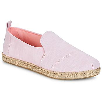 Chaussures Femme Espadrilles Toms DECONSTRUCTED ALPARGATA ROPE Rose
