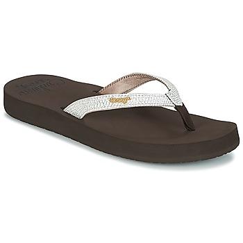 Chaussures Femme Tongs Reef STAR CUSHION SASSY Marron/Blanc