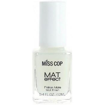 Beauté Femme Vernis à ongles Miss Cop - Top coat Matifiant - 12ml Blanc