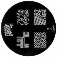 Beauté Femme Accessoires ongles Konad - Plaques de stamping Nail Art M70 Autres