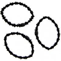 Beauté Femme Accessoires cheveux Stella Green - Lot de 3 élastiques à cheveux crénelés noirs Autres
