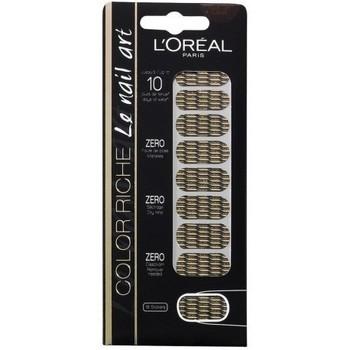 Beauté Femme Accessoires ongles L'oréal - Color riche Le Nail Art - Stickers pour Ongles 008 Or lamé Autres