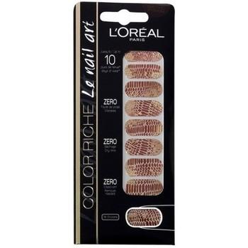 Beauté Femme Accessoires ongles L'oréal - Color riche Le Nail Art - Stickers pour Ongles 006 Chic pytho Autres