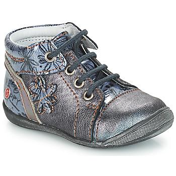 Chaussures Fille Boots GBB ROSEMARIE VNV GRIS BLEU-IMPRIME DPF/KEZIA