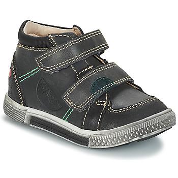 Chaussures Garçon Boots GBB ROBERT CTU GRIS-NOIR DPF/STRYKE