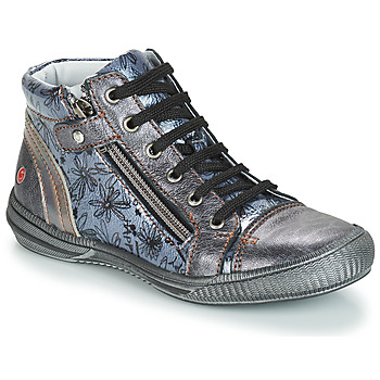 Chaussures Fille Boots GBB RACHIDA VNV GRIS BLEU-IMPRIME DPF/SABINA