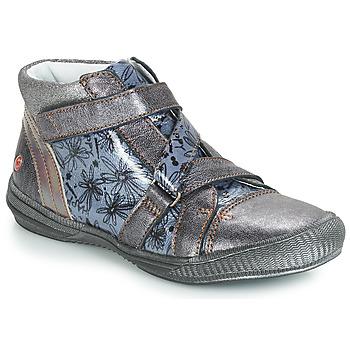 Chaussures Fille Boots GBB RADEGONDE VNV GRIS BLEU-IMPRIME DPF/SABINA