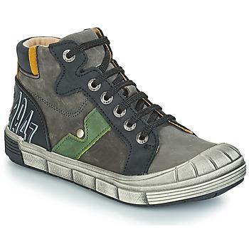 Chaussures Garçon Boots GBB RENZO NUV GRIS-NOIR DPF/2831