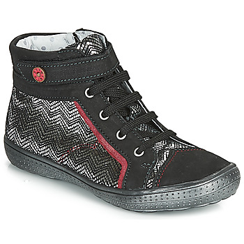 Chaussures Fille Boots Catimini ROSIERE CTV NOIR-ARGENT DPF/2852