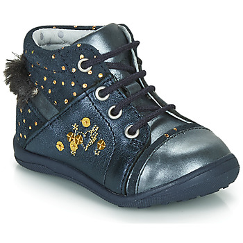 Chaussures Fille Boots Catimini ROULETTE VTC MARINE-POIS OR DPF/GLUCK