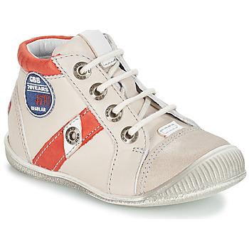 Chaussures Garçon Boots GBB SILVIO VTC BEIGE-ROUGE DPF/RAIZA