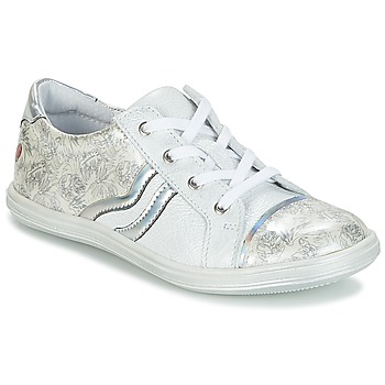 Chaussures Fille Baskets basses GBB SHARON Blanc / Argent