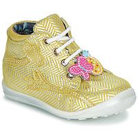 Chaussures Fille Boots Catimini SALAMANDRE VTE JAUNE-ARGENT DPF/GLUCK