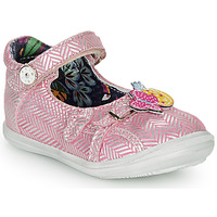 Chaussures Fille Ballerines / babies Catimini SITELLE VTE ROSE-ARGENT DPF/2851