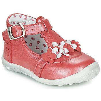 Chaussures Fille Boots Catimini SALICORNE VTE ROUGE NACRE DPF/GLUCK