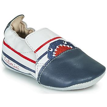 Chaussures Garçon Chaussons Catimini SIMOCYBE VTE BLANC-MARINE DPF/SOUPLE