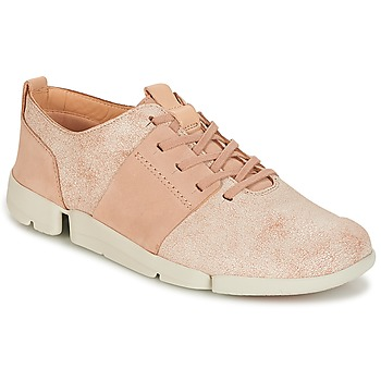 Chaussures Femme Baskets basses Clarks TRI CAITLIN Rose