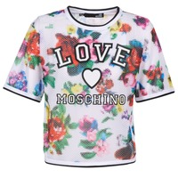Vêtements Femme Tops / Blouses Love Moschino W4G2801 Blanc / Multicolore