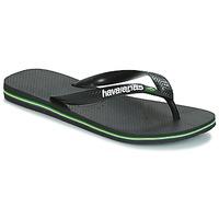 Chaussures Tongs Havaianas BRAZIL LOGO Noir