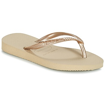 Chaussures Fille Tongs Havaianas SLIM Beige