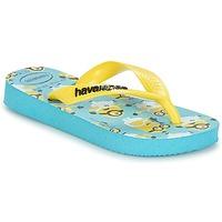 Chaussures Garçon Tongs Havaianas MINIONS Bleu / Jaune